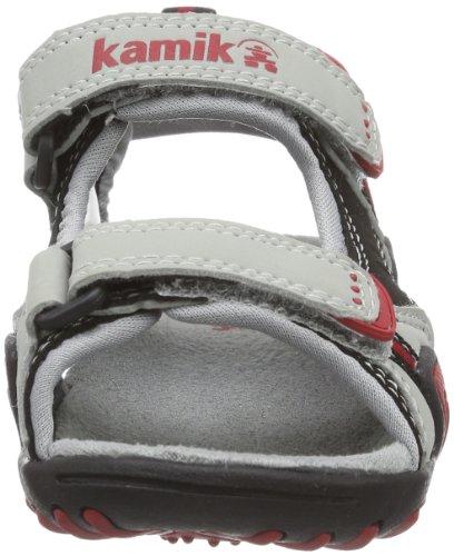 Kamik Crocodile HK9091X Unisex-Kinder Sandalen Rot (RED RED)