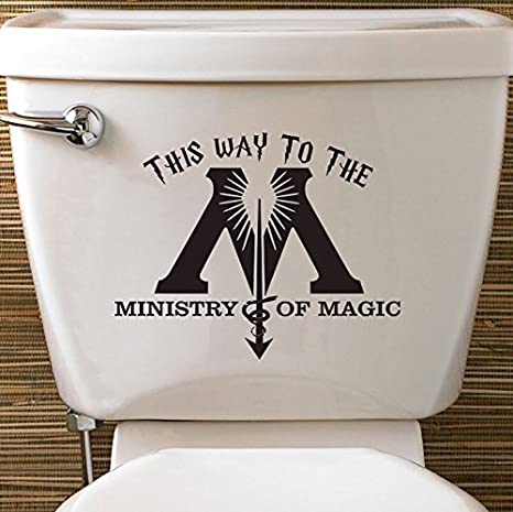 82461950f2e Harry Potter Inspired Ministry Of Magic Toilet Vinyl Decal Sticker Wall Fantastic  Beasts Door Loo - DESIGNED AND CREATED BY EPIC MODZ  Amazon.co.uk  DIY   ...