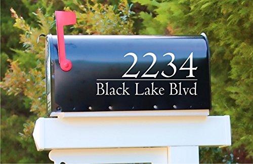 Modern Mailbox Address Number Decal Sticker