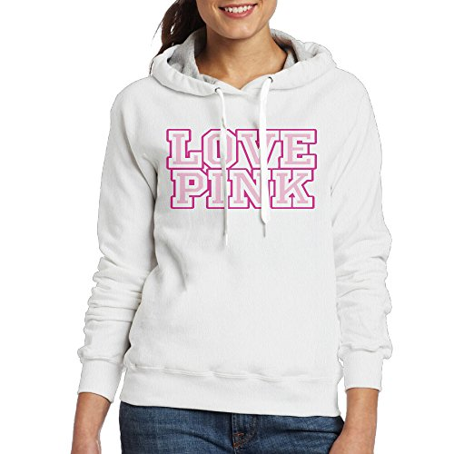 Pink Victoria's Secret(1) Women's Fleece Hoodie L White
