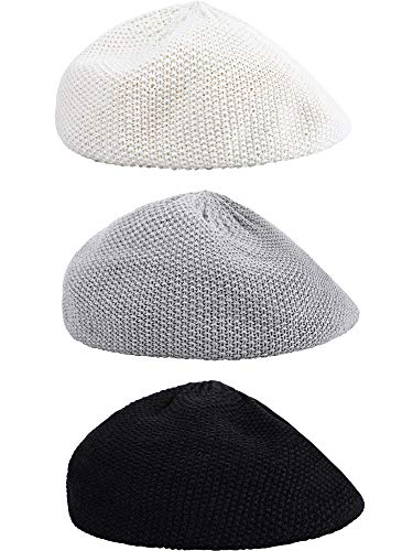 679130d43 3 Pieces Beret Hats French Berets for Summer Spring Breathable Linen Beret  for Women and Girls