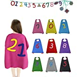 iROLEWIN Magic DIY Educational Kid Capes Toys with 10 Numbers to Teach Children Learning Numbers 0~9 and Math