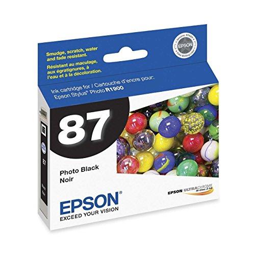 2 X Epson UltraChrome Hi-Gloss 87 Inkjet Cartridge (Photo Black) (Epson 87 Ultrachrome Ink)
