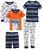 Carter's Boys' 5-Piece Cotton Snug-Fit Pajamas, Dog Glasses, 24 Months