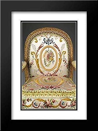 Modern Design Fauteuil.Amazon Com Jacques Gondouin 18x24 Black Modern Frame And Double