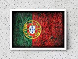 Portuguese Flag, Hand-Painted Flag of Portugal, Distressed Flag, Vintage Mixed Media Art, Rustic, Industrial Style, Flag Painting