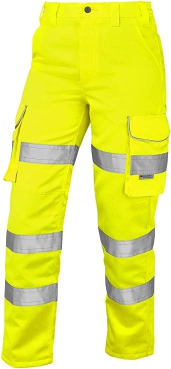 LEO Bideford Class 1 Hi Vis Cargo Trousers Size 28-60 in 3 Leg Lengths