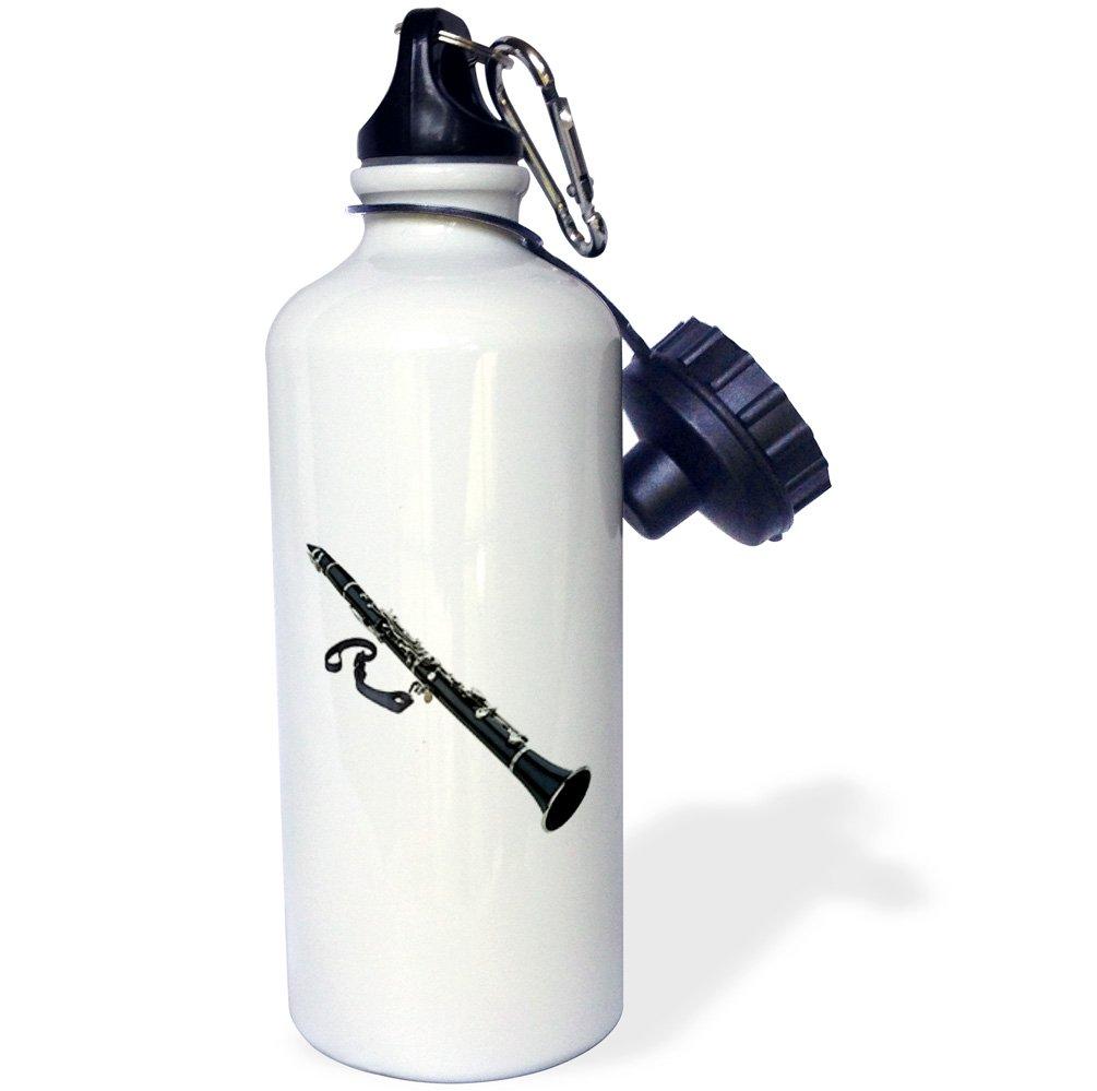 3dRose wb/_4112/_1 Saxophone Sports Water Bottle White 21 oz