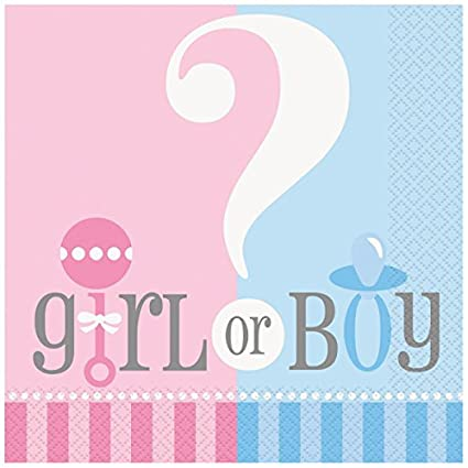 gender reveal party napkins 20ct