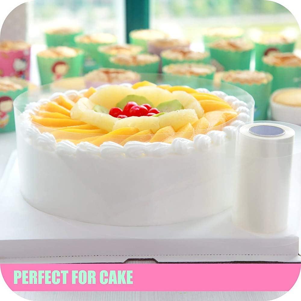 dolci e alimenti Acetato Foglio da forno Cioccolato Mousse Trasparente Rotolo 8cm x 10m 125 micron pasticceria Stampi per torte