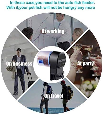 Auto alimentador de peces en acuario temporización inteligente 8