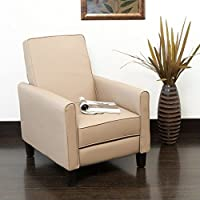 Noble House Mellville Recliner in Camel Tan