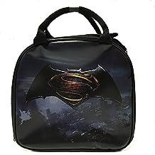 DC Comics Batman VS Superman Sign Lunch Bag with Water Bottle & Adjustable Shoulder Strap (Sign (Black))