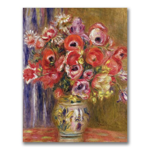 Vase of Tulips and Anemones by Pierre Renoir