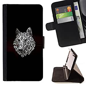 Jordan Colourful Shop - wolf dog art minimalist black pattern For Apple Iphone 6 - Leather Case Absorci???¡¯???€????€????????&