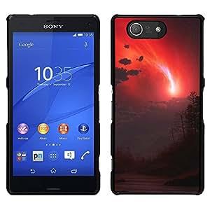 EJOY---Cubierta de la caja de protección la piel dura para el / Sony Xperia Z3 Compact / --cielo rojo