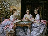 'John Everett Millais - Hearts Are Trumps,1872' Oil Painting, 16x21 Inch / 41x53 Cm ,printed On High Quality Polyster Canvas ,this High Quality Art Decorative Canvas Prints Is Perfectly Suitalbe For Nursery Decoration And Home Artwork And Gifts