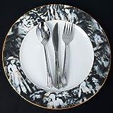 BalsaCircle 12 pcs 11.5'' Black Round Commercial Grade Porcelain Dinner Plates Tableware