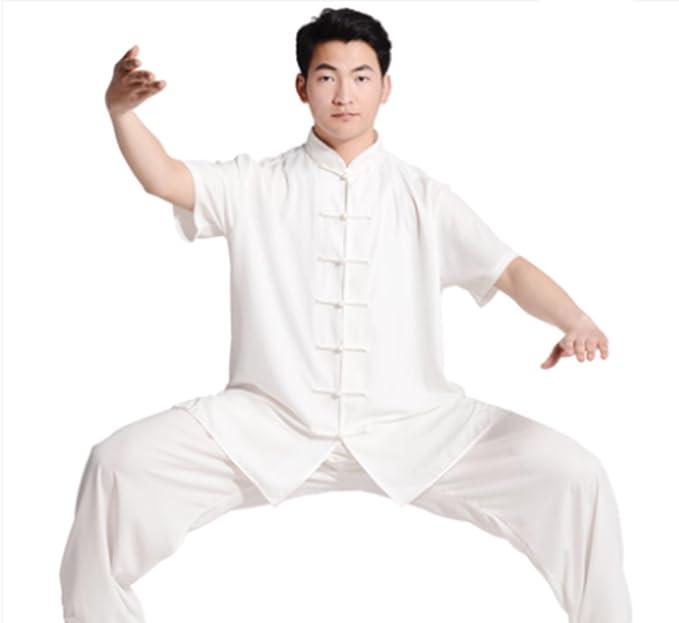 Amazon.com: w.h.s Unisex de uniforme Tai Chi seda Tai Chi ...