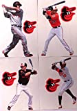 "Baltimore Orioles FATHEAD Team Set 4 Players, 4 Orioles Logo Official MLB Vinyl Wall Graphics - CHRIS DAVIS, ADAM JONES, MANNY MACHADO - Each Player 7"" INCH"