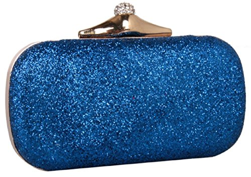 Party Shiny Women Rhinestone Clutches Bettyhome Handbags Blue Evening Bag Handle Purse Wedding TBYUd5qw
