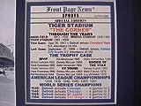 11X14 FRAMED TIGER BRIGGS STADIUM 1912 1999 WORLD