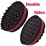 Stebcece Magic Curl Coil Tools Wave Barber Hair Brush Sponge For Dreads Afro Locs Twist (hot pink)