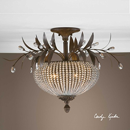 De Lisbon Crystal Semiflush The Cristal Collection Semi Flush Mounts
