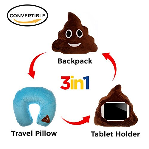 Pillow Backpack Emoticon Cushion Stuffed product image