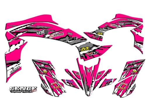 Senge Graphics kit compatible with Yamaha 2003-2008 YFZ 450 (Steel Frame), Shredder Pink Graphics ()