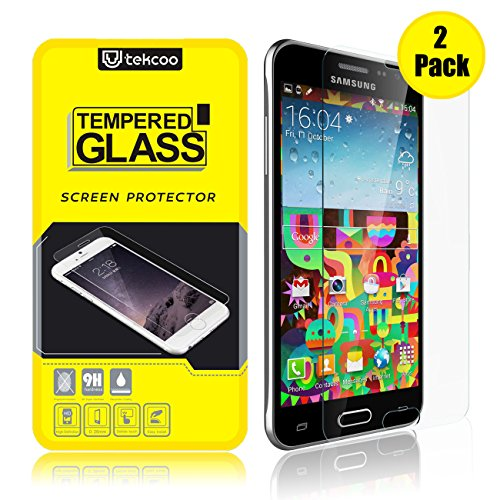 [2-Pack] Galaxy Sky/ J3/ J3 V/Galaxy Sol/Galaxy Amp Prime Screen Protector, [Tempered Glass] 9H Hardness Anti-Scratch Premium Real Glass Screen Protector for Samsung Galaxy Amp Prime/Express Prime