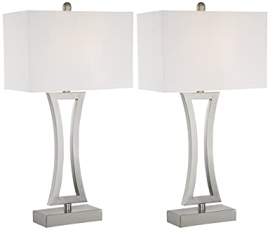 Amazing Roxie Modern Metal Table Lamp Set Of 2