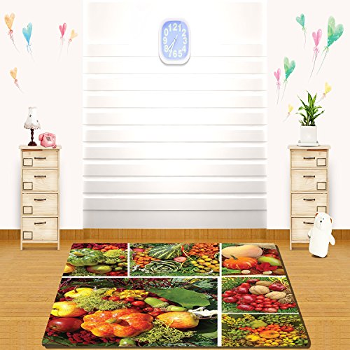 Steelers Home Field Rug - HAIXIA rugs Harvest Photograph of Products from Various Gardens and Fields Seasonal Foods Apple Walnuts Decorative