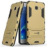 samsung galaxy j7 max Galaxy J7 Max Case, CoverON Shadow Armor Series Modern Style Slim Hard Hybrid Phone Cover with Kickstand Case for Samsung Galaxy J7 Max - Gold