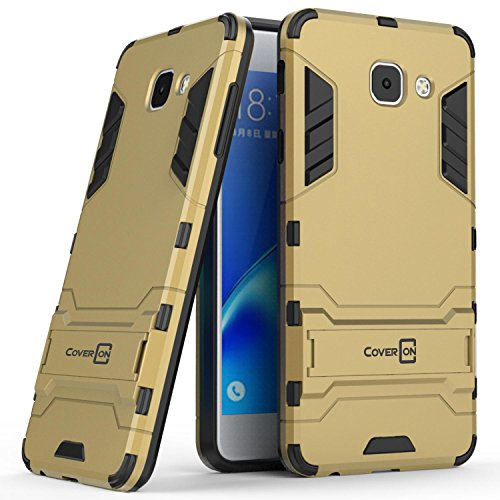Galaxy J7 Max Case, CoverON Shadow Armor Series Modern Style Slim Hard Hybrid Phone Cover with Kickstand Case for Samsung Galaxy J7 Max - Gold