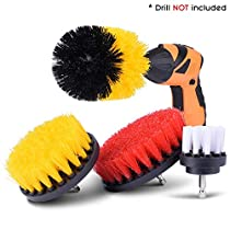 KINCREA 4 Piece Drill Brush Attachment Kit, Drill Brush Power Scrubber Stiff for Cleaning Pool Tile, Flooring, Brick, Ceramic, Marble and GroutJM001