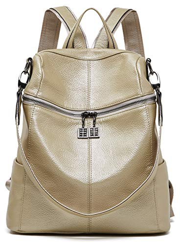 - BOYATU Convertible Genuine Leather Backpack Purse for Women Fashion Travel Bag