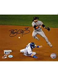 Brandon Crawford Autographed 2014 World Series (Jump) 8x10 Photo SF Giants Beckett Authenticated