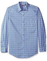 Men's Traveler Button Down Long Sleeve Stretch Blue/White...