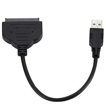 Justdodo Cable Adaptador SATA III de 22 Pines USB 3.0 a 2.5in con ...