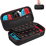 Carrying Case for Nintendo Switch, Keten Switch Case with 19 Game Cartridges, Upgraded Protective Portable Hard Shell Carry Case Pouch for Nintendo Console & Accessories, Black