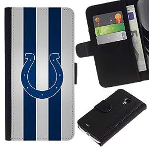 Herradura Equipo deportivo - la tarjeta de Crédito Slots PU Funda de cuero Monedero caso cubierta de piel Para Samsung Galaxy S4 Mini i9190 (NOT S4)