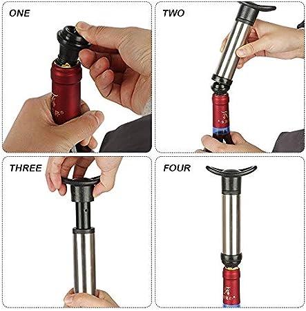 SENAHI Wine Pump Wine Saver Pumper Preserver para Eliminar el Sello de Aire y vacío