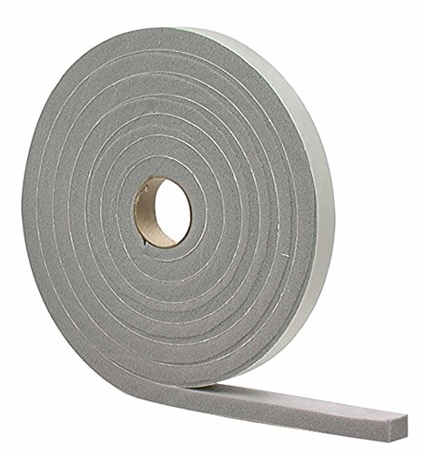 M-D Building Products 2733 M-D 0 High Density Closed Cell Self-Adhesive Foam Tape, 17 Ft L X 3/8 in W 3/16 in T, PVC White