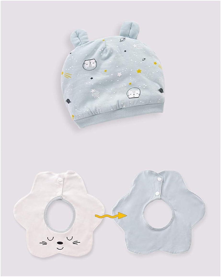 Newborn Baby 3pcs Sets Cat Pattern Side Open Thicken Romper Cute Bib and Hat Red