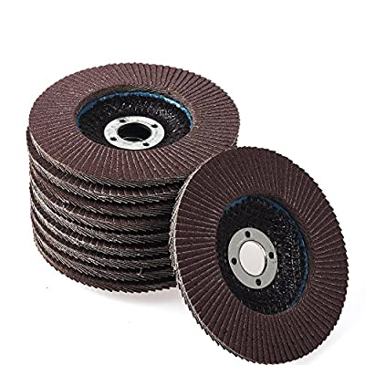 10Pcs 4''Inch Abrasive Flap Sanding Disc Polishing Wheel Grinding Disc Grit 60#/80#/120#/180#/240#/320#