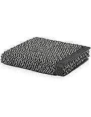 möve Brooklyn ręcznik kąpielowy w jodełkę 80 x 150 cm z 85% bawełny / 10% wiskozy z celulozy bambusowej / 5% lnu, naturalny/czarny