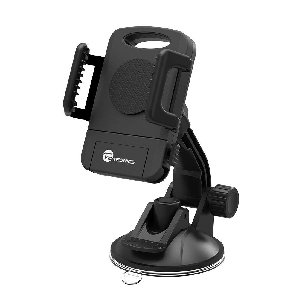 TaoTronics Car Phone Mount, Car Mount, Car Windshield / Dashboard Universal Smart Phone Mount Holder, Car Cradle for iPhone / Android TT-SH08