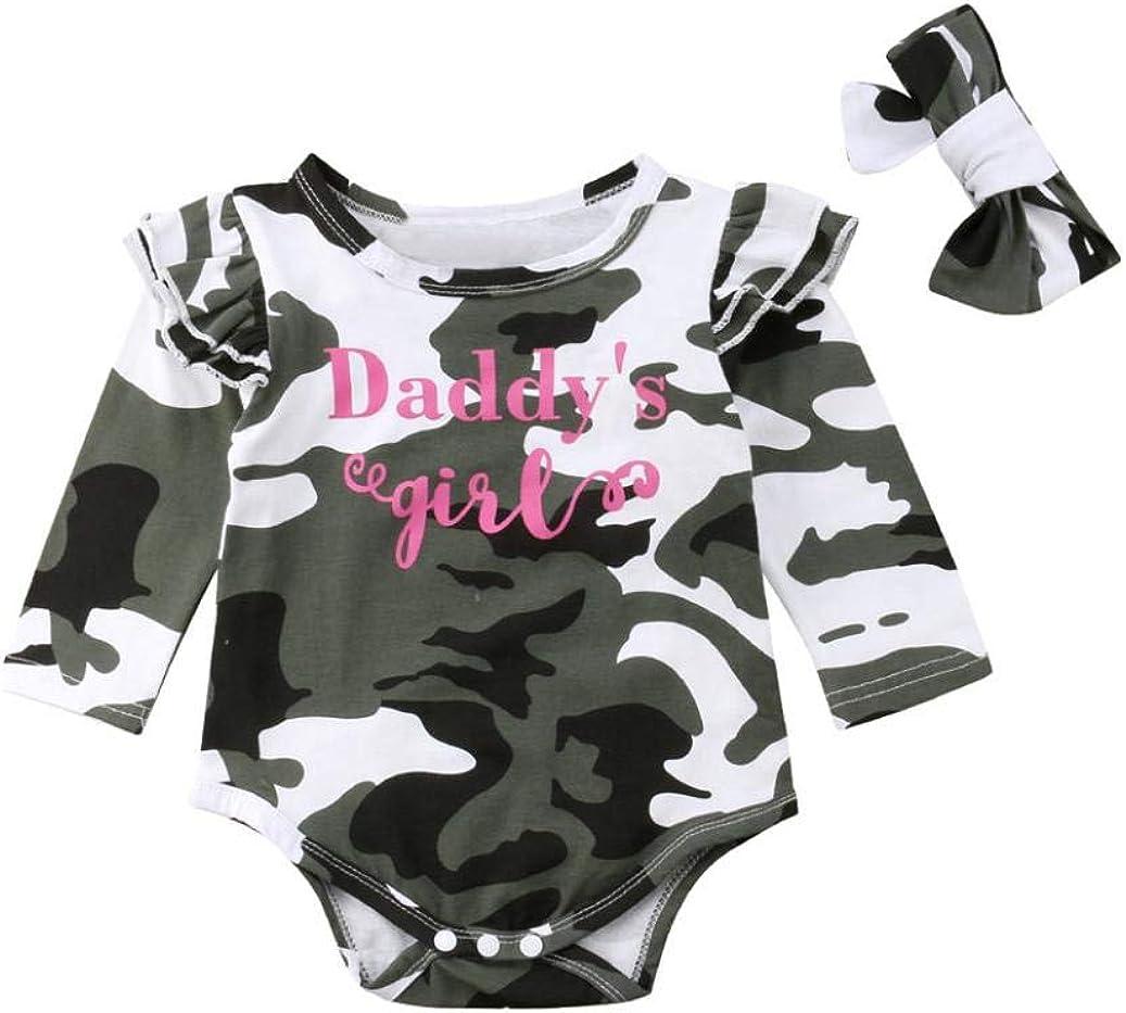 Vinjeely Newborn Baby Girls Pink Dinosaur Print Long Sleeve Romper Jumpsuit Casual Clothes