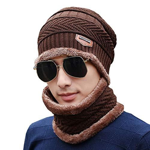 Bonnet En L'hiver Acmede Cou Hiver Pour De Écharpe Café Tour Tricotée Homme Et Chaud d7Uzgq